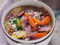 Beef and Vegetable Soup with Pearl Barley recipe