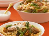 Beef and Vegetable Stir-fry with Linguine recipe