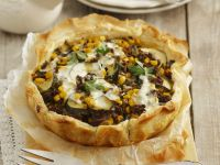 Beef and Zucchini Flaky Pastry Tart recipe