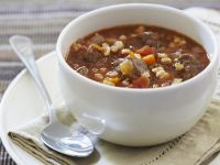 Paprika Beef and Grain Soup recipe