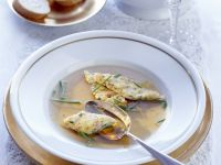 Beef Broth with Ham Dumplings recipe
