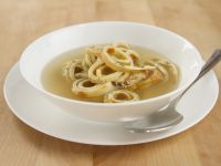 Beef Broth with Pancake Strips recipe