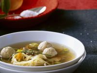 Beef Broth with Vegetables and Sausage recipe