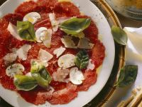Beef Carpaccio with Mushrooms and Parmesan recipe
