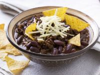 Beef Chili with Tortilla Chips recipe