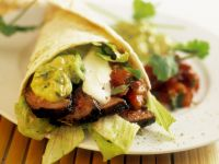Beef Fajitas with Avocado Cream recipe