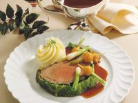 Beef Filet Wrapped in Meat and Cabbage recipe