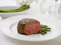 Beef Fillet with Green Asparagus recipe