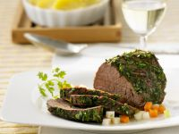 Beef Fillet with Herb Crust recipe