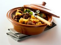 Beef Goulash with Bell Peppers and Potatoes recipe