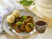 Beef Goulash with Bread Dumplings recipe