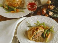 Beef in Puff Pastry with Mushroom Filling recipe
