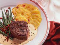 Beef Medallions with Potato Gratin recipe