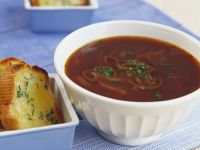 Beef Oxtail Soup with Cheese Toasts recipe