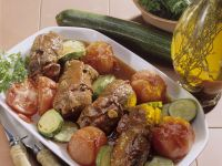 Beef Roulades with Tomatoes and Zucchini recipe