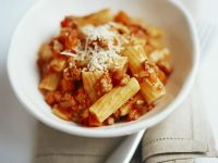 Beef Sauce Rigatoni with Parmesan recipe