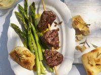 Beef Skewers with Green Veg recipe