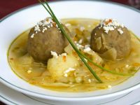 Beef Soup with Beef and Plantain Dumplings recipe