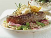 Beef Steaks with Bean Salad recipe
