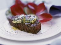 Beef Steaks with Herb Butter recipe