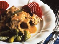 Beef Stew with Beets and Gherkins recipe
