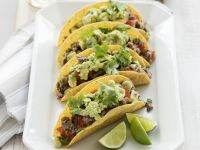 Beef Tacos with Guacamole recipe