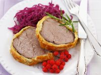 Beef Wellington with Red Cabbage Salad recipe