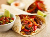 Beef Wraps with Salsa recipe
