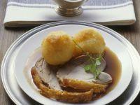Beer-Braised Suckling Pig with Potato Dumplings recipe