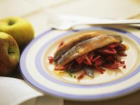 Beet and Apple Salad with Pickled Herring recipe
