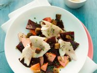 Beet and Apple Salad with Smoked Trout recipe