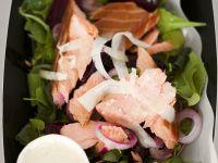 Beet and Smoked Salmon Salad with Yogurt Vinaigrette recipe