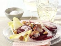 Beet Salad with Endive and Bacon Wrapped Prunes recipe
