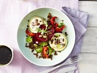 Beet Salad with Lentils and Goat Cheese recipe