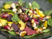 Beet Salad with Halloumi Cheese recipe