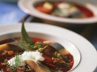 Beet Soup with Cream recipe