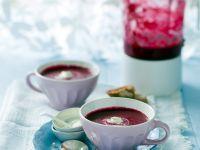 Beet Soup with Horseradish Cream recipe