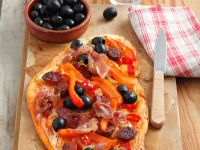 Bell Pepper and Chorizo Tarte recipe