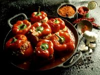 Bell Peppers Stuffed with Meat and Rice recipe