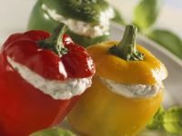 Bell Peppers with Goat Cheese and Herbs recipe