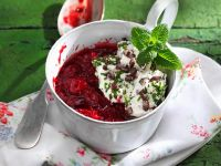 Berry and Cherry Compote with Whipped Cream recipe