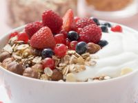 Berry Granola with Yogurt recipe