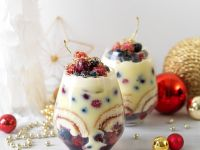 Berry, Sponge, and Custard Cups recipe