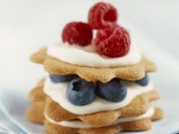 Biscuit and Berry Stacks recipe