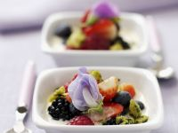 Biscuit and Custard with Mixed Berries recipe