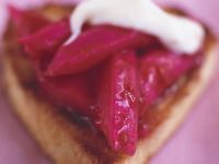 Biscuit Pastries with Rhubarb Compote and Mascarpone recipe