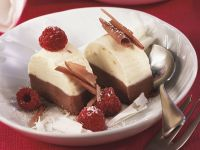Black and White Chocolate Parfait with Raspberries recipe