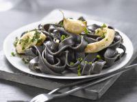 Black Pasta with Garlic