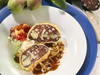 Black Pudding Strudel with Pears recipe