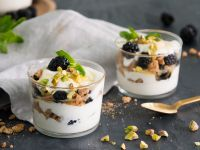 Blackberry Pistachio Yogurt recipe
